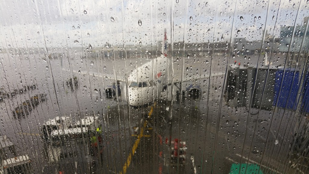 terminal przed odlotem